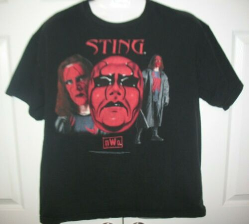 WCW 1998 Vintage Sting NWO Red Face Wrestling T-Sh