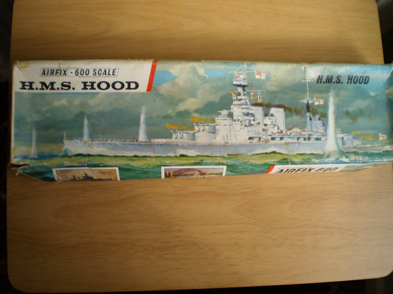 VINTAGE AIRFIX RED STRIPE 1 600 SCALE HMS HOOD MODEL KIT