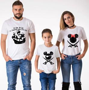 Papa Maman Fils Fille Vacances Familiales shirts Pirate life