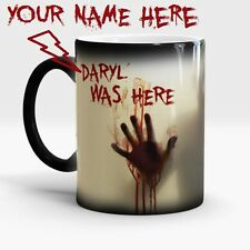 WALKING DEAD PERSONALIZED MAGIC COLOR CHANGING COFFEE MUG TEA CUP