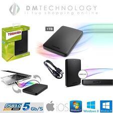 "HARD DISK ESTERNO 1TB 2,5"" TOSHIBA SLIM USB 3.0/2.0 AUTOALIMENTATO HD HDD 1000GB"