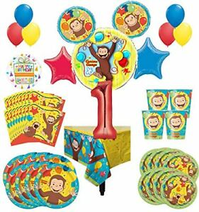 Curious-George-Party-Supplies-8-Guest-Kit-1st-Birthday-Balloon-Bouquet-Decoratio