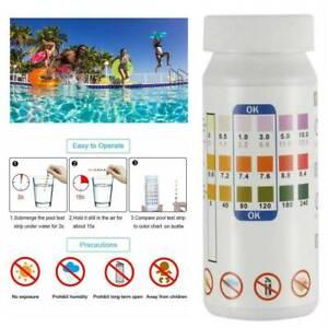 50Pcs 3 In1 Swimming Pool SPA Test Strips Chlorine PH Alkalinity Water Hardness