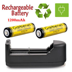 Garberiel-Rechargeable-1200mAh-3-7V-Li-Ion-14500-Battery-Charger-for-Flashlight