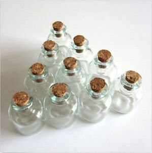 Lots-10-Pcs-22x28mm-Empty-Tiny-Small-Clear-Cork-Message-Glass-Bottles-Vials-4ml