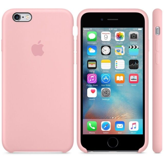 check out 50a39 dff85 Genuine Original Apple iPhone 6 / 6s Plus Silicone Phone Case Cover - Pink