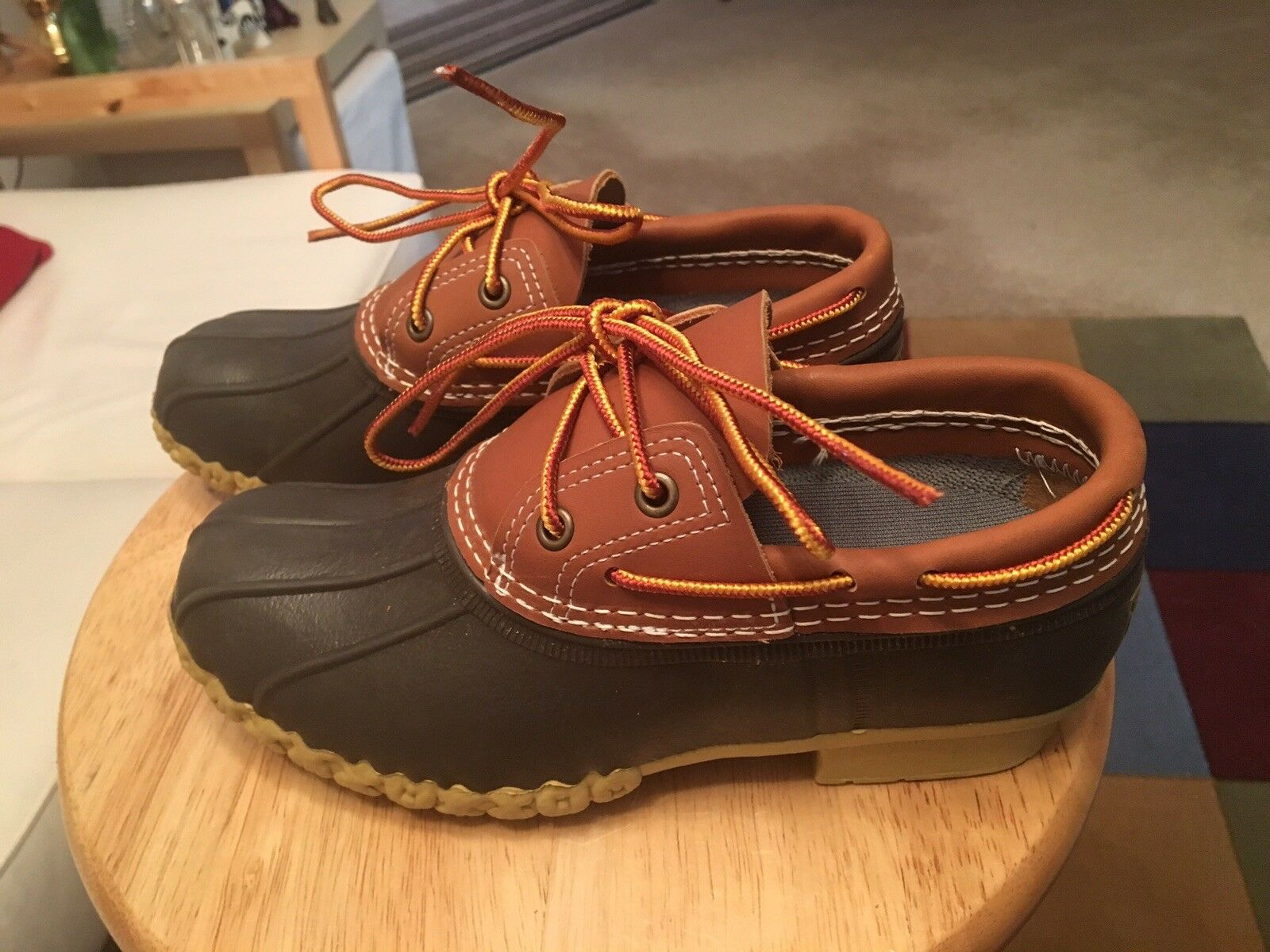 NWOB L.L.Bean 504729 Brown Women's US6M Leather Maine USA Low Ankle Duck Boots