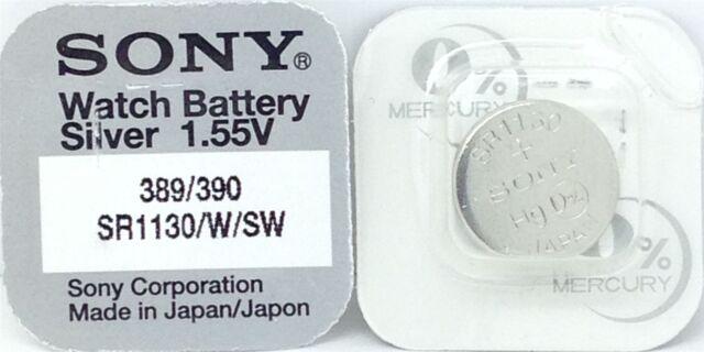 SONY 389 SR1130W V389 D389 626 M 280-15 sb-bu SR1130W SR54 Batterie montre