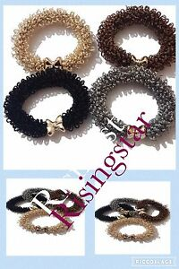 4 fancy hair elastic ponytail bobbles hair bands fashion accessories new e3cf22cd60c