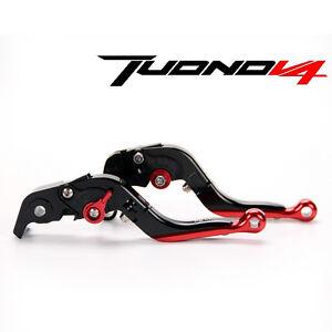 LOGO-Folding-extendable-brake-clutch-levers-For-aprilia-Tuono-V4-R-2011-2016