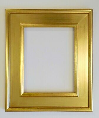 "Picture Frame Gold Liner Ornate Gold Color Wood//Gesso 11x14/"" GLASS #637GM"