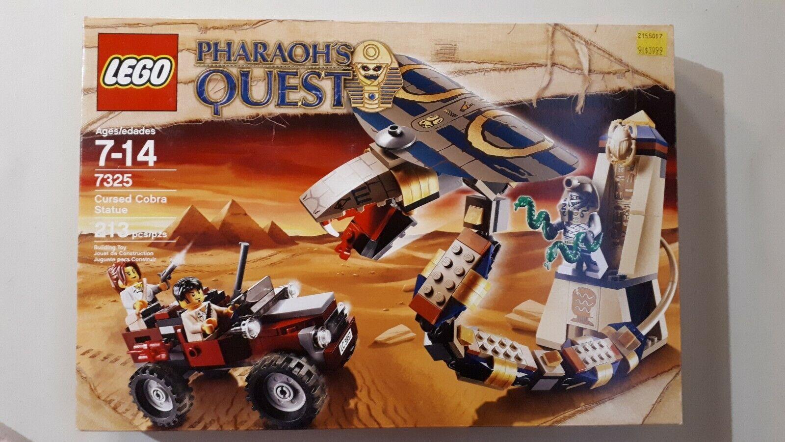 7325 CURSED COBRA STATUE pharaoh's quest LEGO new legos set retired sealed
