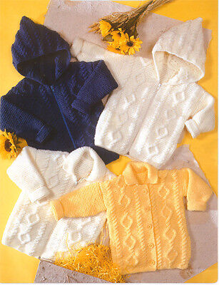 Knitting pattern- Childrens Aran Jackets-Cardigans Pattern- fits 20-30 chest
