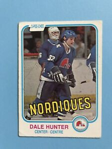 Dale-Hunter-ROOKIE-1981-82-O-Pee-Chee-Hockey-Card-277-Quebec-Nordiques