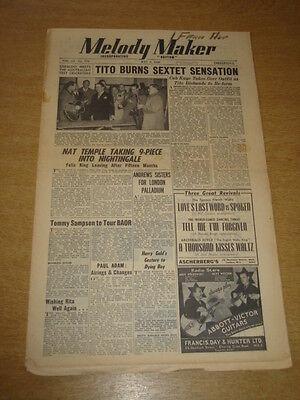 Agressief Melody Maker 1948 May 8 Tito Burns Nat Temple Geraldo Andrews Sisters +
