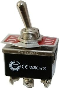 Kippschalter Schalter 2xUM EIN / EIN 10A / 6A 125V / 250V KN3C-202