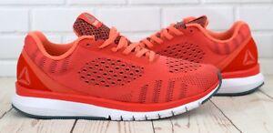 Reebok-Print-glatte-ultraknit-Damen-Running-Sport-Gym-Trainer-Fire-Coral