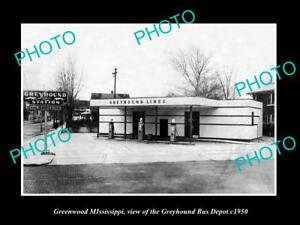 OLD-LARGE-HISTORIC-PHOTO-OF-GREENWOOD-MISSISSIPPI-THE-GREYHOUND-BUS-DEPOT-c1950