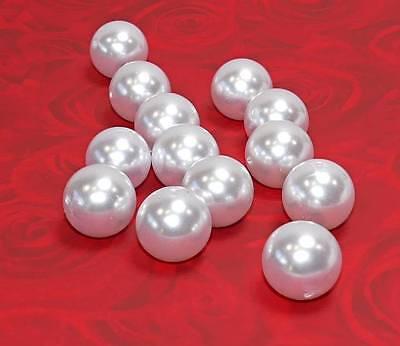 10 Perlen perlmutt weiß Hochzeit Wachsperlen 25mm große Perlen
