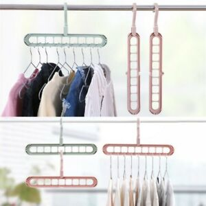 Organizer-Clothes-Storage-Hanger-Home-Garments-Holder-Drying-Closet-Rack-Hooks