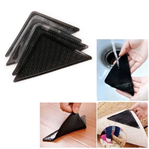 Details about  /4//8//16PCS Rug Corners Anti Slip Stopper Self-adhesive Carpet Corner Gripper Pads