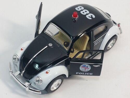 "5/"" Kinsmart 1967 Volkswagen Classical Beetle Police Car 1:32 Diecast Model Toy"