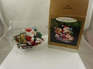 vintage-the-Santa-039-s-Snow-Getter-Christmas-ornament-1993-hallmark-keepsake