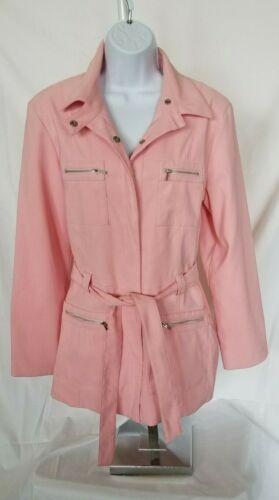 womens medium pink gloria vanderbilt lined trench