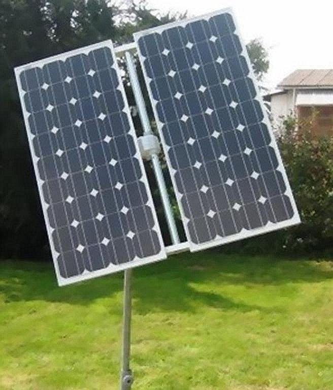 Solar Nachführungssystem 1- achsig 2m² für 1-2 Solarmodule