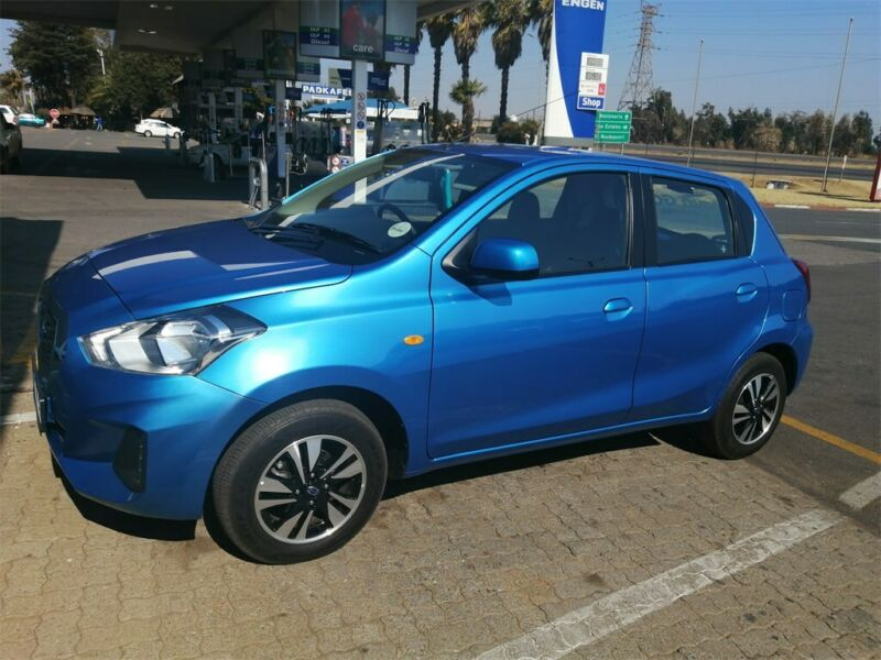 Blue Datsun Go 1.2 Lux CVT with 13000km available now!