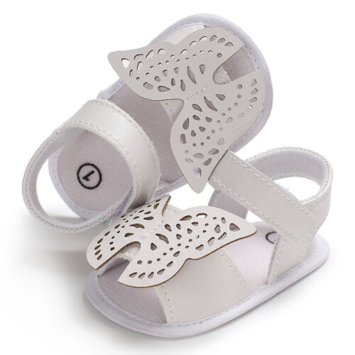 So Lovely Anti-Dérapant Newborn Baby Girl Crib Chaussures bébé Papillon Sandales