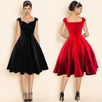 Hepburn Vintage Retro 50s 60s Evening Party Swing Pinup Rockabilly Women Dresses