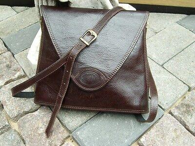 Leder-Umhängetasche Original Jumpers Natural Leather, dunkelbraun