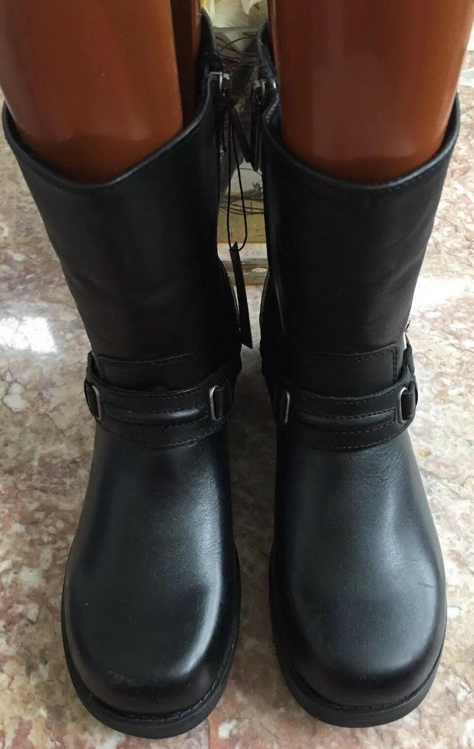 NWT NWT NWT Harley Davidson Women Christa Black Leather Zip Up Sz 9.5M Boots D85298 f8173a