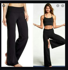 athleta black high rise chaturanga fitness yoga pants wide