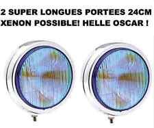 TYPE LIGHTFORCE HELLA CIBIE OSCAR! 2 SUPER PHARES 24CM! XENON OK! QUALITE MARINE