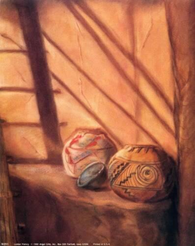 "Print /""Ladder Pottery/"" 8x10 In Pueblo Indian Art Print"