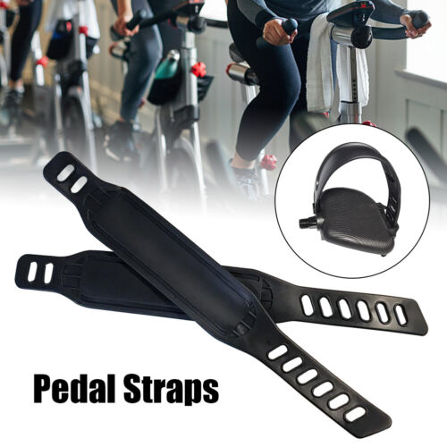 1pair Exercise Bike Pedal Straps Easy Install Home Gym Replacement Parts PP