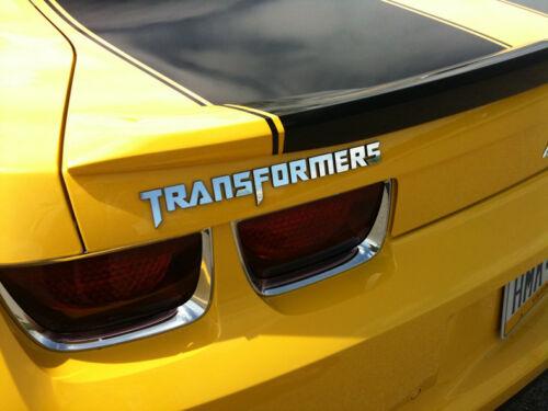 Car Metal Word Transformers Chrome for Motor Rear Side Emblem Badge Sticker