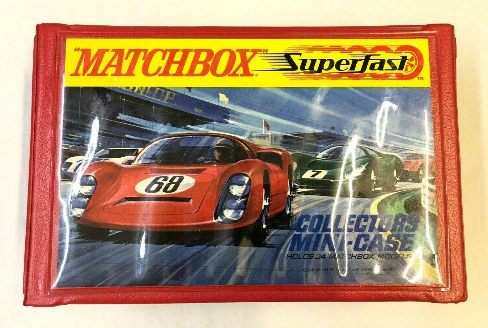 RARE VINTAGE MATCHBOX SUPERFAST COLLECTORS MINI-CASE W  12 ORIGINAL CARS VW BUG