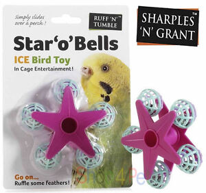 BIRD-CAGE-TOY-STAR-O-BELLS-FERRIS-WHEEL-SPINNING-SLIDES-OVER-PERCH-BUDGIE-PET