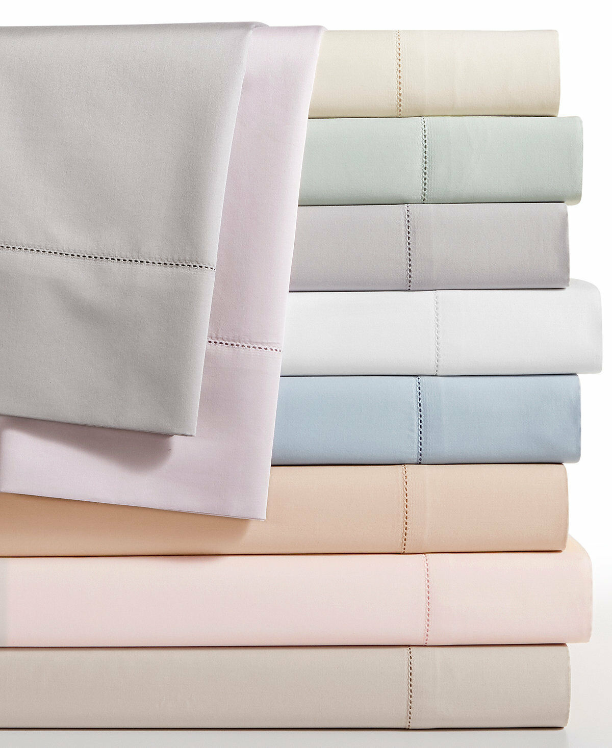 Hotel Collection 680TC100% Supima Cotton CALIFORNIA King Fitted Sheet White  235