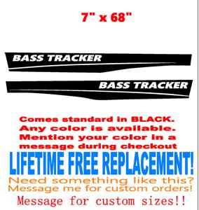 Marine grade Lifetime Warranty! 7 x 68 inch Bass Tracker Boat hull logo Decal