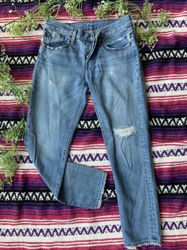 Levis 501 Distressed Jeans 26x28 - image 1
