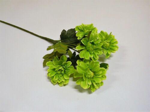 Aster Crysantheme Seidenblume Kunstblume Kunstpflanze grün 58 cm N-12607-1 F24