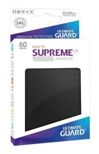 60 Ultimate Guard Supreme UX Sleeves Japanische Größe Matt Schwarz
