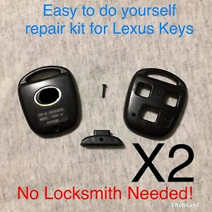 Details about 2 New 3 Button Remote Key Fob Repair Kit For Lexus/With Logo  A+ Customer Svc!