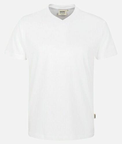 Sportliches V-Shirt von Hakro 226 in Weiß