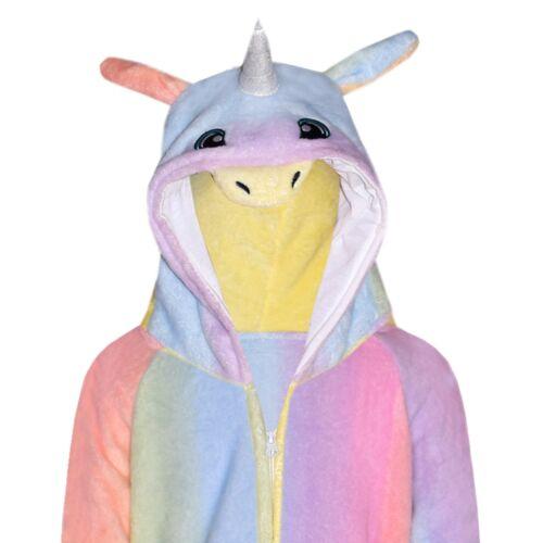 Kids Girls 3D Unicorn A2Z Onesie One Piece Hooded Soft Fluffy Xmas Costume 7-13
