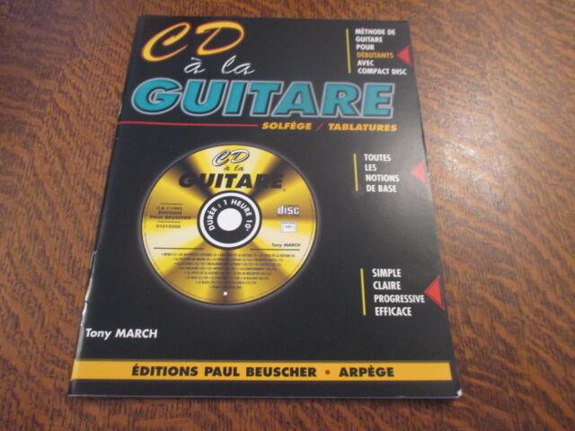 Partition CD a la guitare Tony March